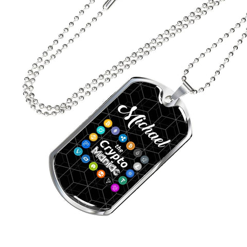 Personalized Crypto Maniac Pendant Necklace