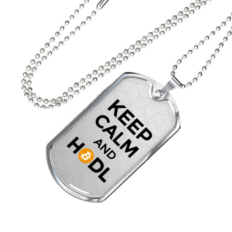 Keep Calm and HODL Pendant Necklace