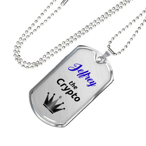 Personalized Crypto King Pendant Necklace