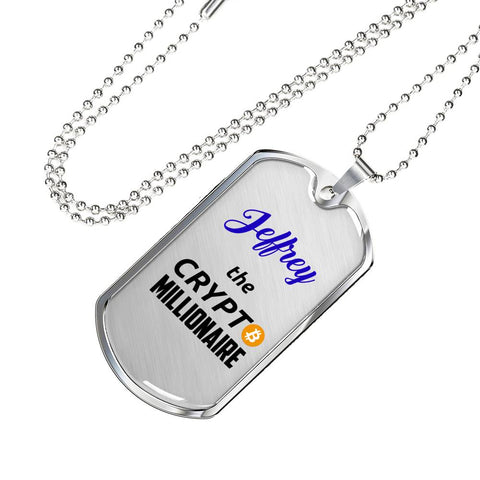 Personalized Crypto Millionaire Pendant Necklace