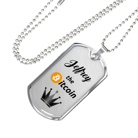 Personalized Bitcoin King Pendant Necklace