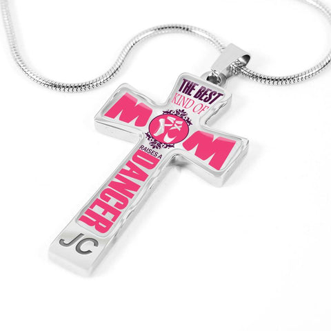 Personalized Best Kind of Mom Cross Pendant Necklace (Customize Occupation On Pendant)