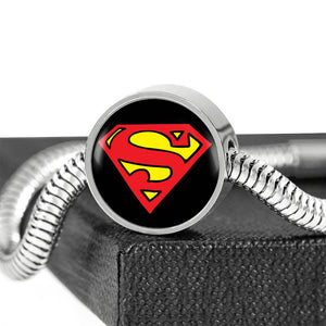 Superman Inspired Custom Alphabet Charm Bracelet