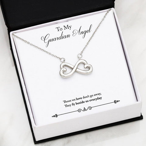 Personalized Message Card Infinity Heart Pendant Necklace
