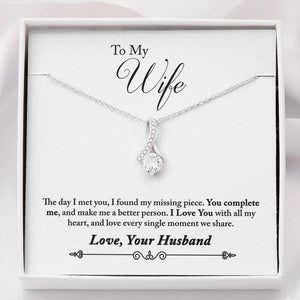 Personalized Message Card Alluring Beauty Necklace