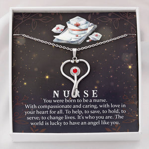 Stethoscope Necklace with Personalized Message Card (For Nurse or Medical Frontliner)