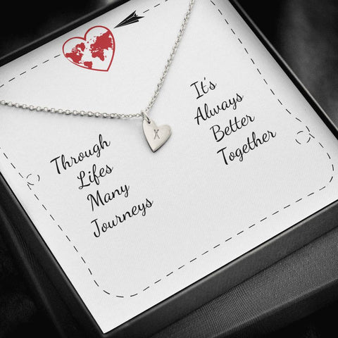 Personalized Message Card Sweetest Hearts Necklace