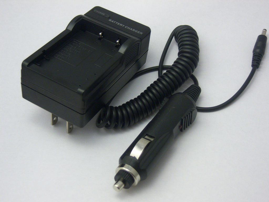 Travel charger for hp digital camcorder v5040u battery (home and car use)