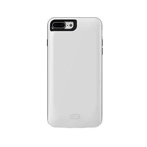 iPhone 6 Plus 7500 mAh CyberTech iPhone Slim Charging Case High Capacity External Battery Case for iPhone (Build-in Magnetic Works with Magnetic Car Phone Mount Holder) (iPhone 6P White)