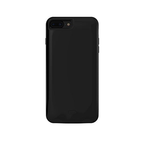 iPhone 7 5200 mAh CyberTech iPhone Slim Charging Case High Capacity External Battery Case for iPhone (Build-in Magnetic Works with Magnetic Car Phone Mount Holder) (iPhone 7 Black)