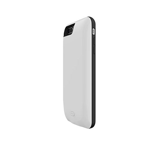 iPhone 7 Plus 7500 mAh CyberTech iPhone Slim Charging Case High Capacity External Battery Case for iPhone (Build-in Magnetic Works with Magnetic Car Phone Mount Holder) (iPhone 7P White)