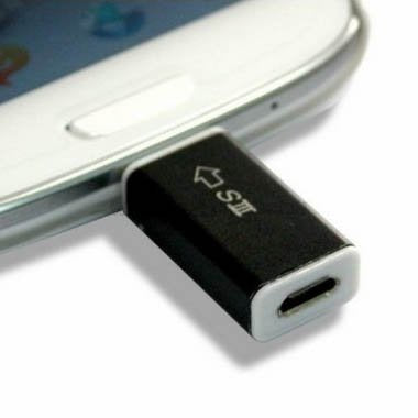 Cybertech Micro USB to MHL Adapter Tip (Micro USB 5-Pin to S3 11-Pin) for Samsung S3 I9300, Note 2 N7100