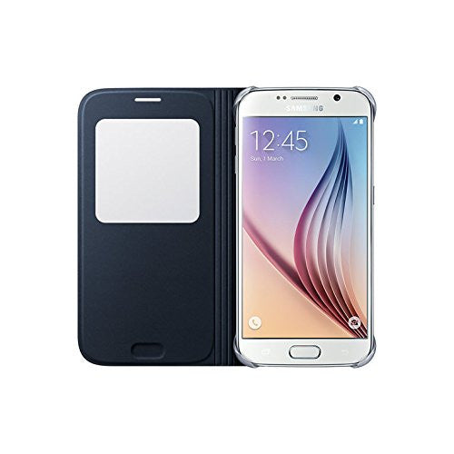 LUXURY FLIP LEATHER Case Protective Cover for SAMSUNG GALAXY S6 by CyberTech - Five Colors to Choose from (Black)