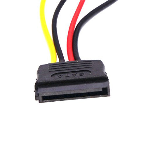 2 Packs (QTY X2) CyberTech 15-Pin Serial ATA SATA Female to Molex (LP4) Female Power Cable (6 Inches)