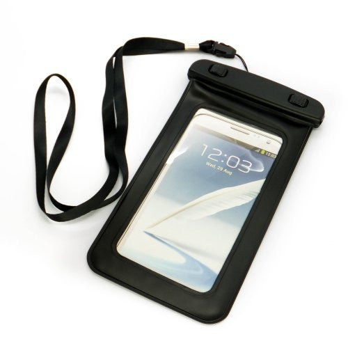"20 ft Waterproof Dry Bag Case Cover for Smartphones up to 6"" (Black)"