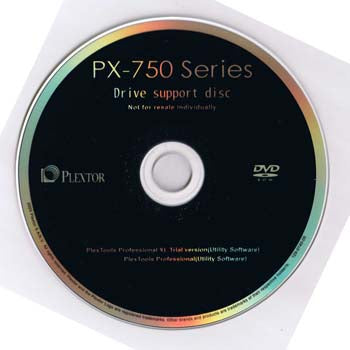 Installation Disc for Plextor PX-750A SA UF
