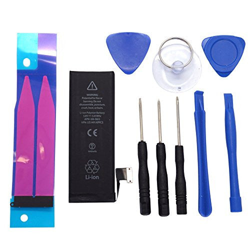 iPhone Replacement Battery and Repair Kit, Change / Fix Your Battery in 15 Minutes, Package Includes Battery, Tool, and Battery Tapes
