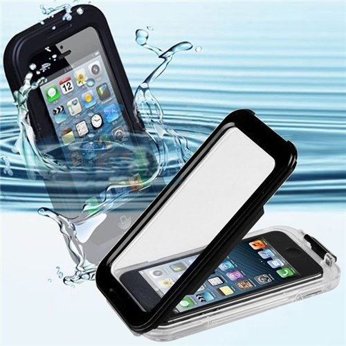 CyberTech 25ft Waterproof Shockproof Silicon Touch Case for iPhone 5/ 5C/ 5S (Black, Blue, Pink)