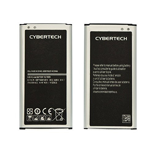 Galaxy S5 Battery Combo, 2X High Capacity Replacement Battery with Wall Charger for Samsung i9600