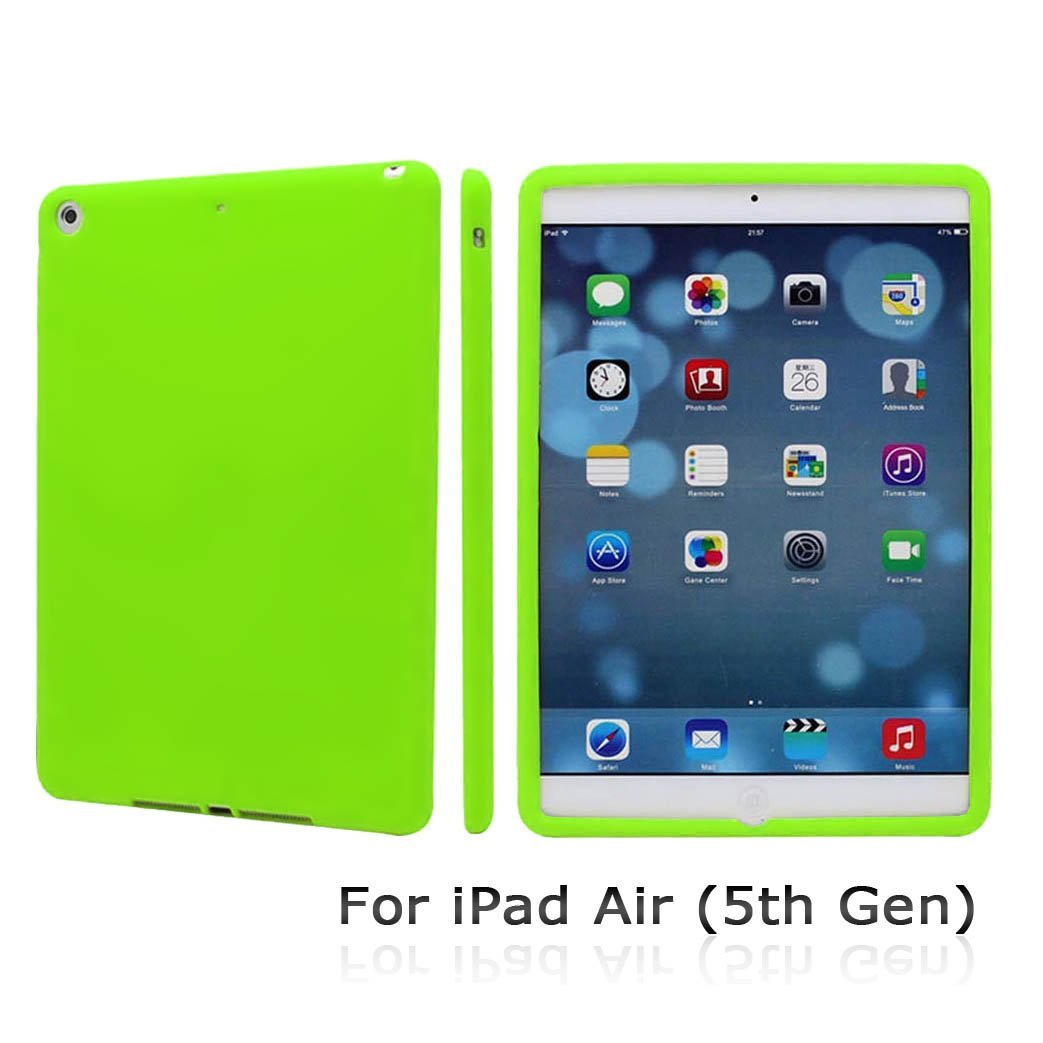 CyberTech Premium Soft Silicon Case for New iPad Air 5th Gen (Green)