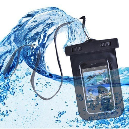 "CyberTech 20 ft Waterproof Pouch for Samsung S2/ S3, Apple iPhone, and any other device with a 6.5"" screen or smaller"