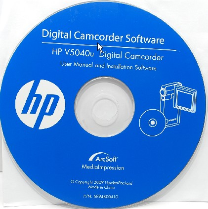 Digital Camcorder Software CD for hp v5040u digital camcorder