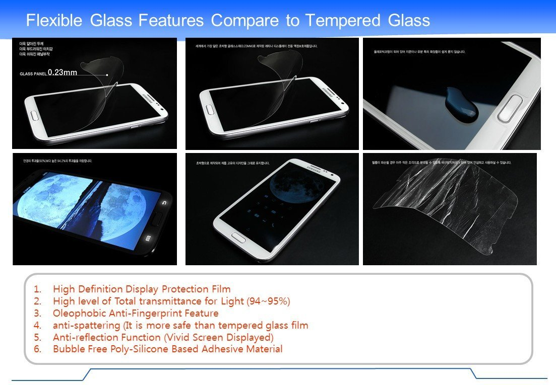 "CyberTech Thin Flex Glass ""8H"" Screen Protector (Galaxy S4)"