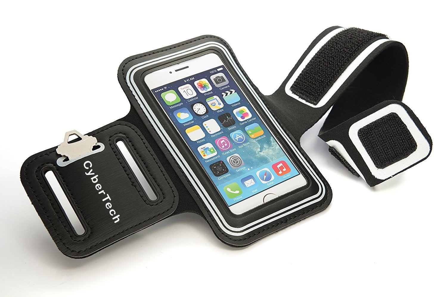 CyberTech Sport Armband Case for Samsung Galaxy S2 S3 S4 S5, iPhone 4 4S 5 5S 5C, HTC, Nokia Lumia 521 (White)