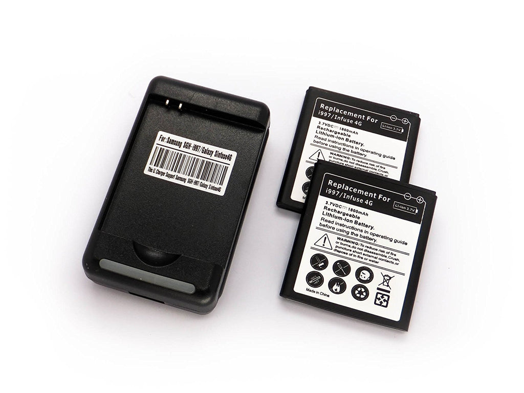2 x 1800mAh Cybertech Batteries + Charger for Samsung Infuse i997