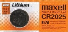CR2025,Micro Lithium Cell Coin Battery, for Digital Photo Frame Remote