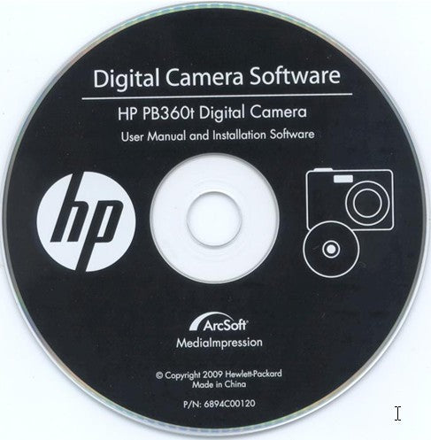 Digital Camera Software CD for hp PB360T