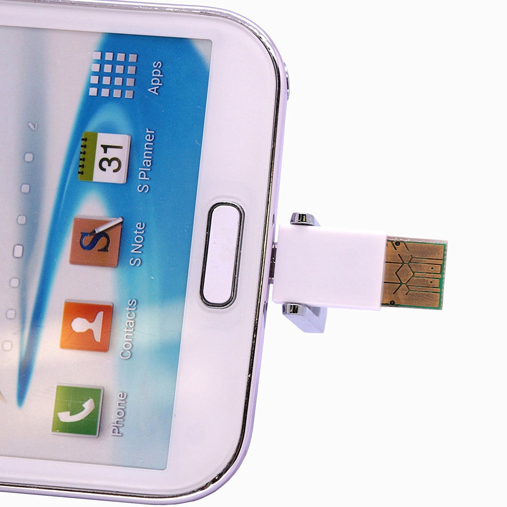 CyberTech OTG USB Flash Drive External Storage for Samsung S3, S4, Note 2, 3 (Sky Blue)