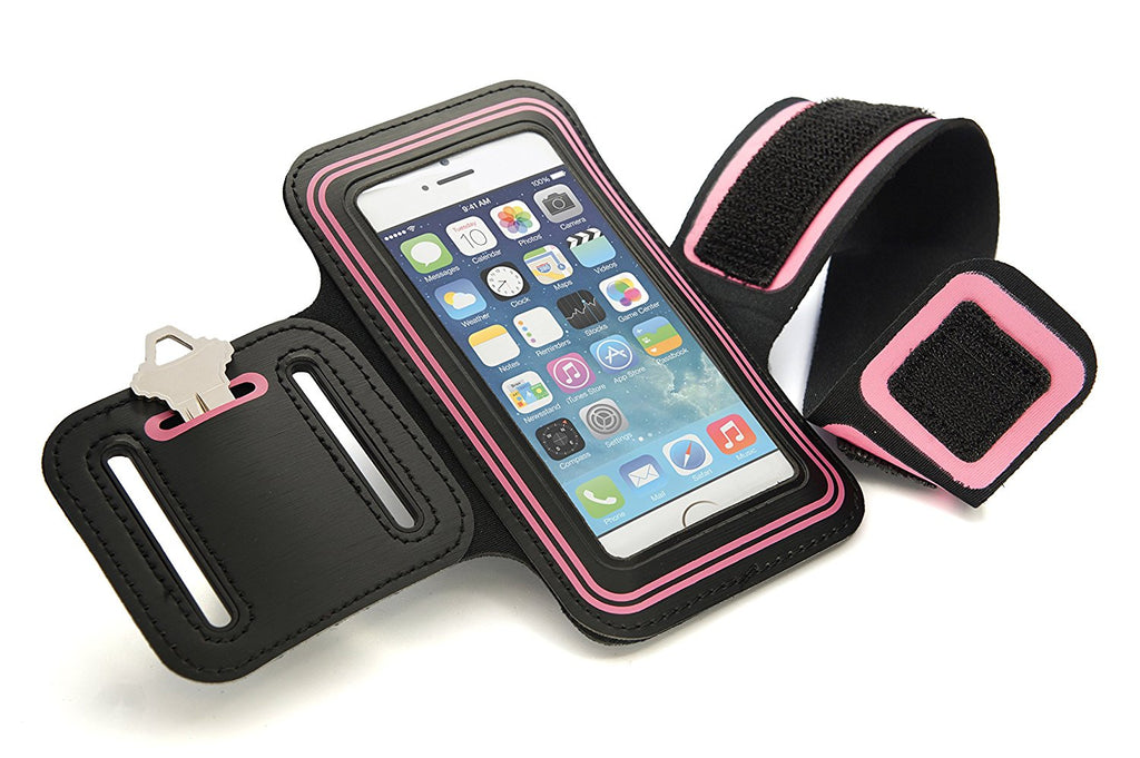 CyberTech Sport Armband Case for Samsung Galaxy S2 S3 S4 S5, iPhone 4 4S 5 5S 5C, HTC, Nokia Lumia 521 (Pink)