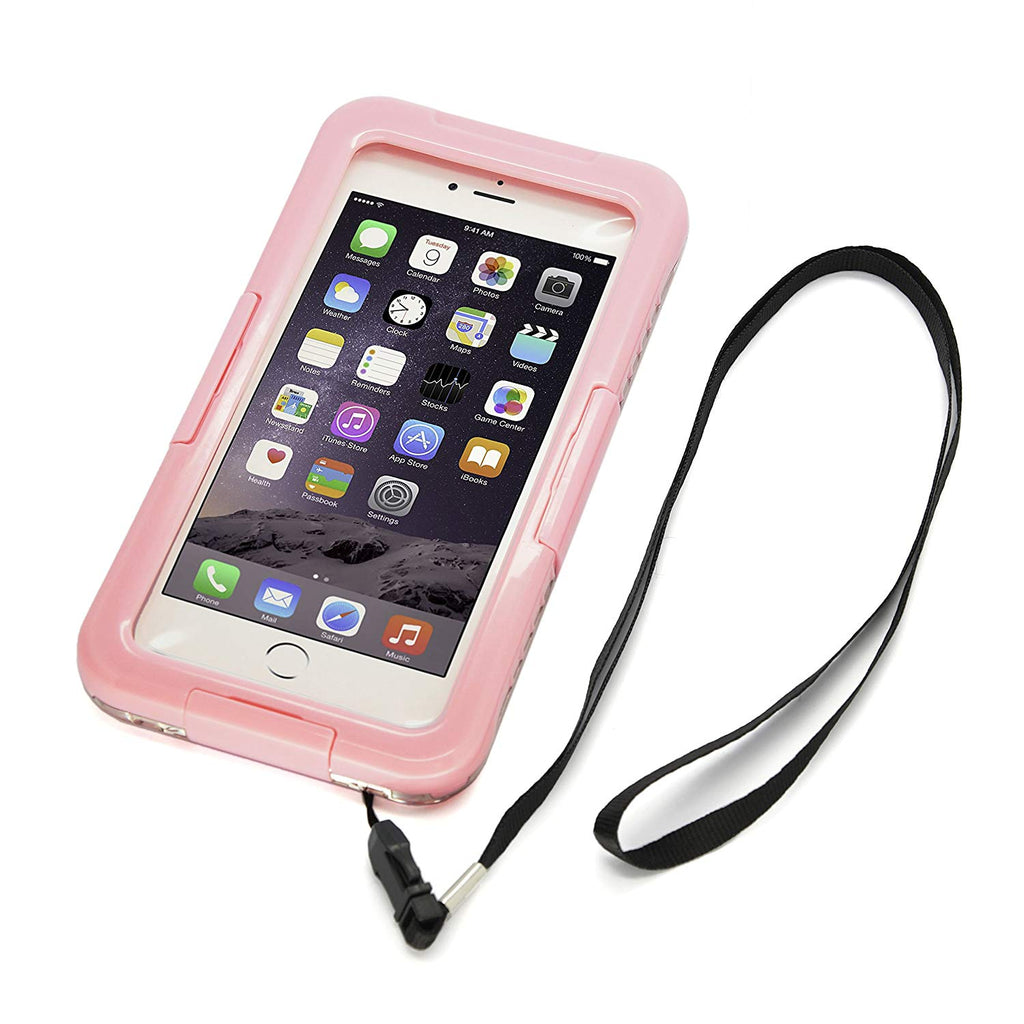 CyberTech 20ft Waterproof Shockproof Dirt Proof Sand Proof Silicon Touch Screen Case for iPhone 6 (Black, Blue, Pink)