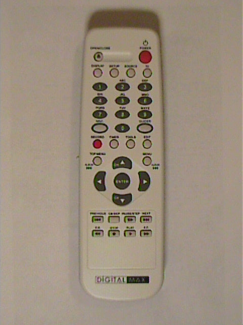 DigitalMax DVD recorder DMD-R0501 Remote Control