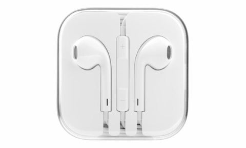 CyberTech White Earphones w/ Volume Control + Clear Hard Case
