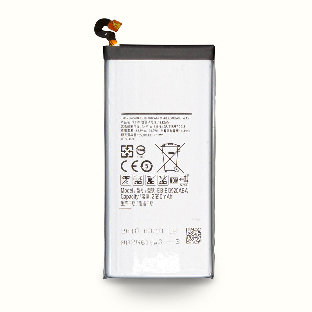 Samsung Galaxy S6 Battery Repair kit, Capacity 2550mAh