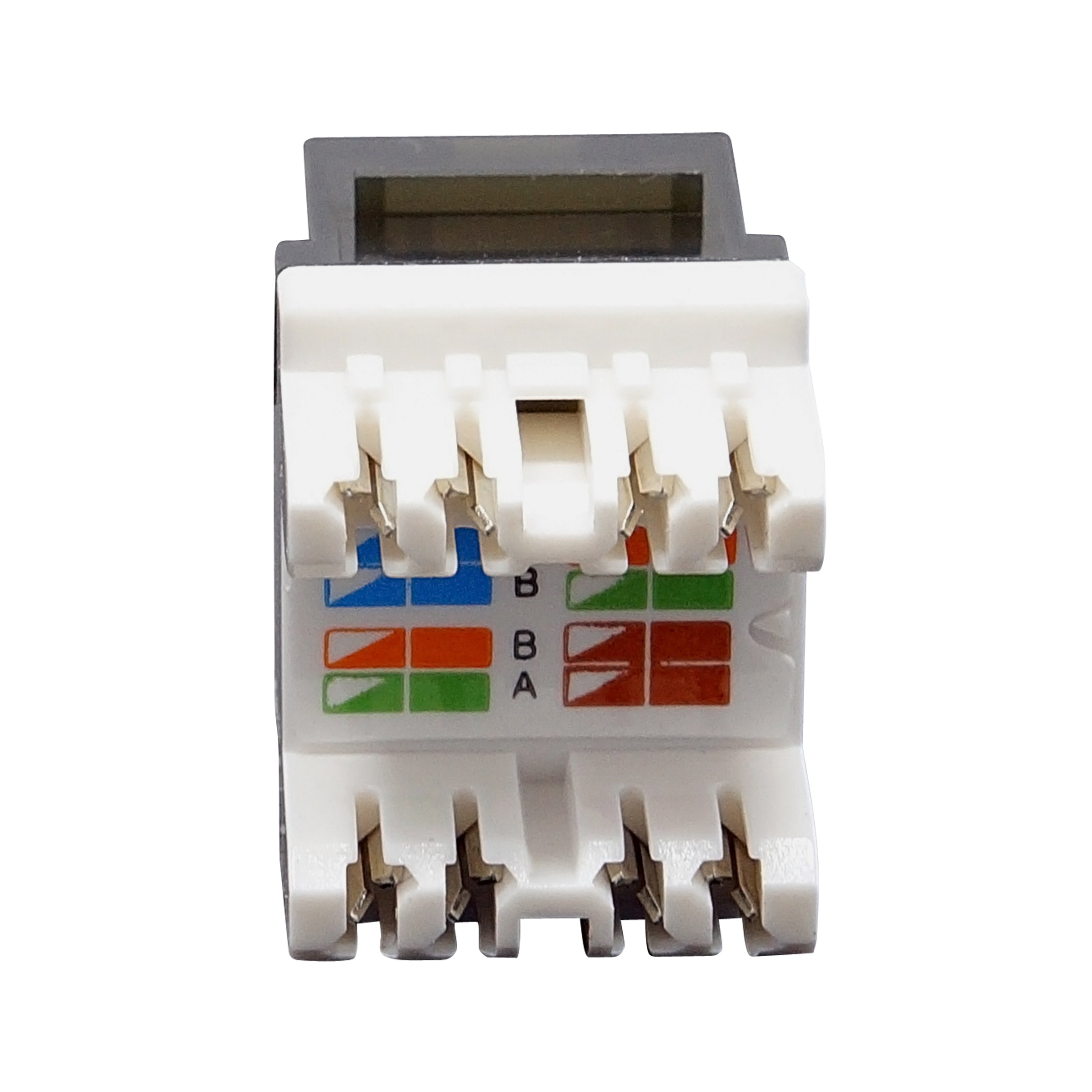 UTP Cat.6A/Cat.6/Cat.5e Gold Plated Keystone Modular Jack with LED