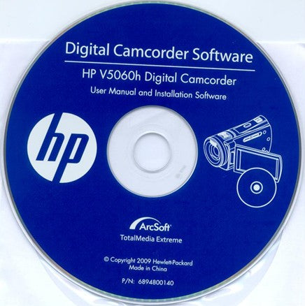 Digital Camcorder Software CD for hp v5060h digital camcorder