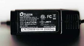 5 volt 2 amp power supply for Plextor PX-608U ultra portable slim USB DVD drive
