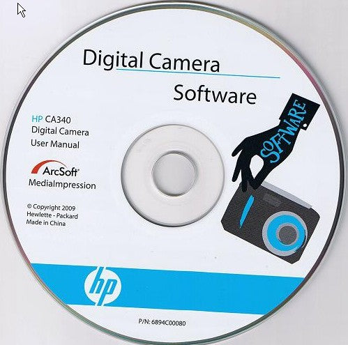 Digital Camera Software CD for hp CA340