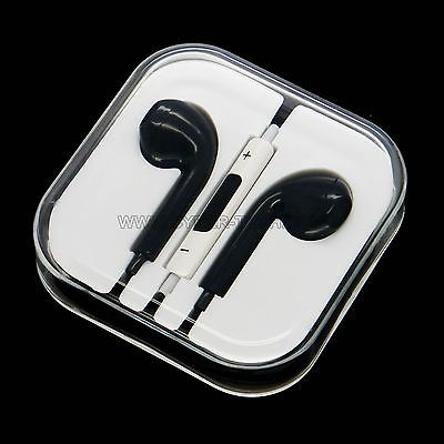 CyberTech Black Earphones w/ Volume Control + Clear Hard Case