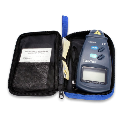 CyberTech Digital Photo Laser Tachometer Non Contact Tach
