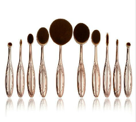 10 pc Oval Make Up Brushes