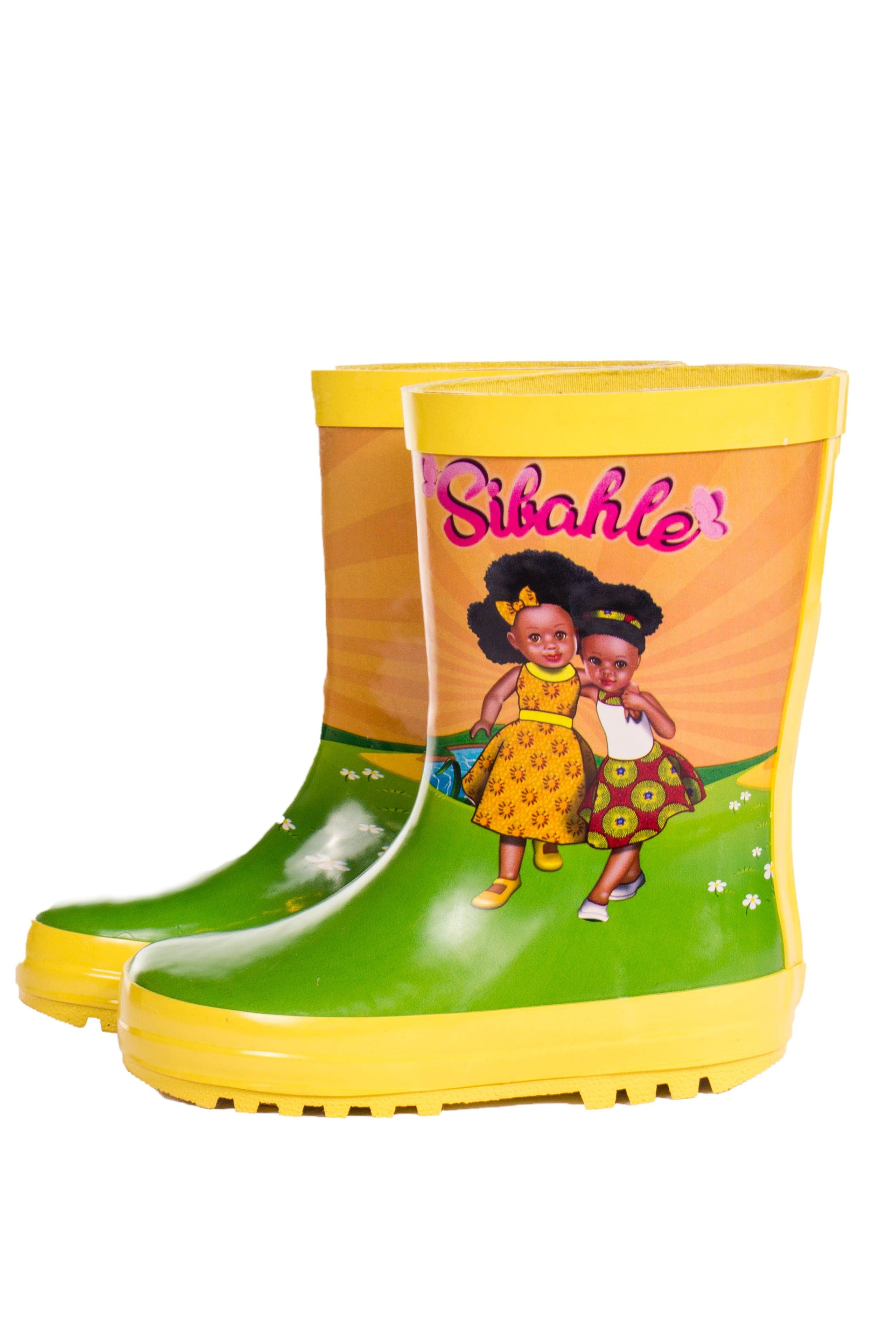 Sunshine Yellow Wellingtons