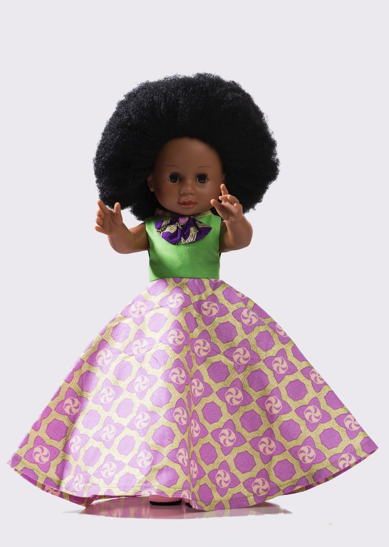 Nobuhle Dress & Shoe Set Purple (NO DOLL)