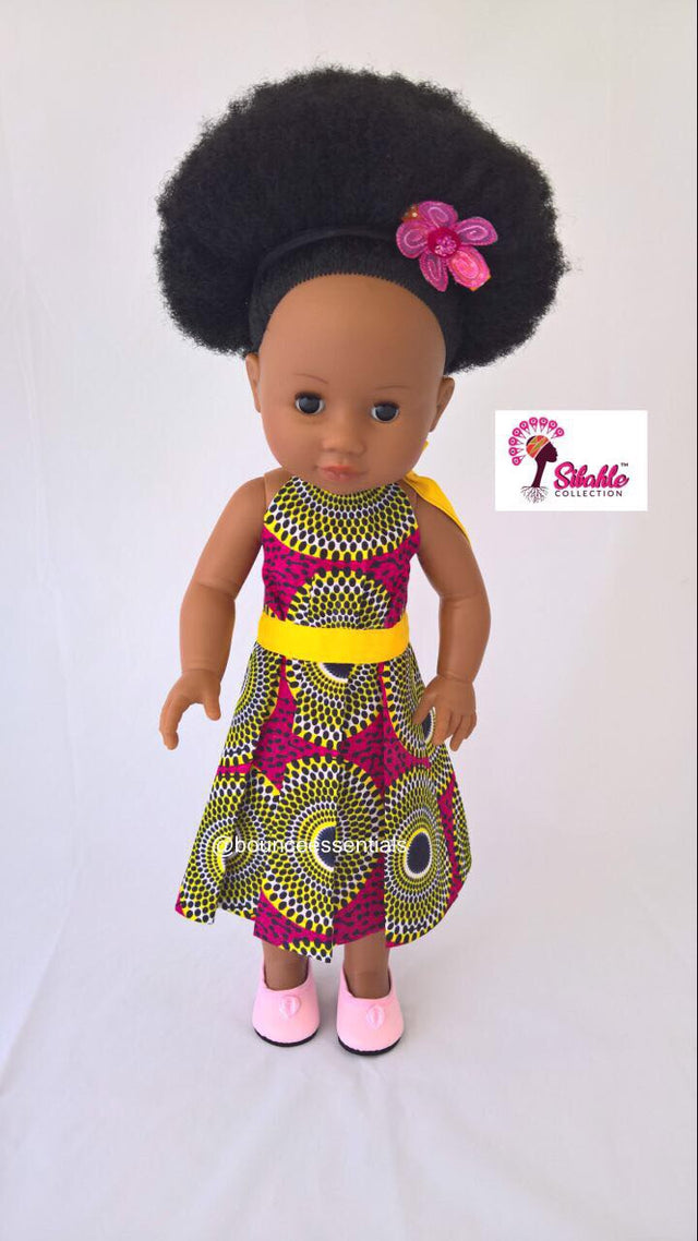 Nobuhle Yellow Band Simple Dress (NO DOLL)