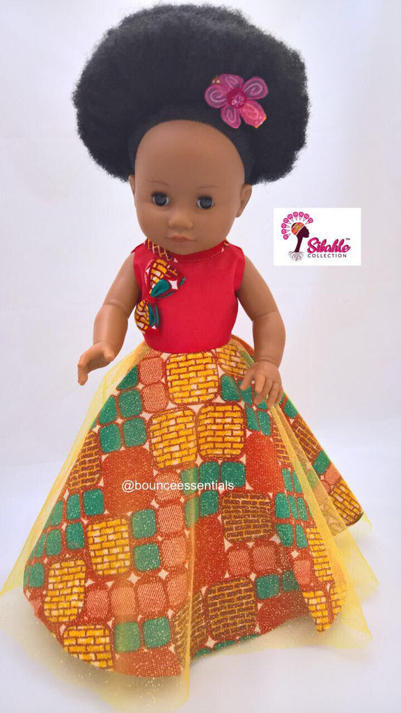 Nobuhle Dress Print Orange (NO DOLL)