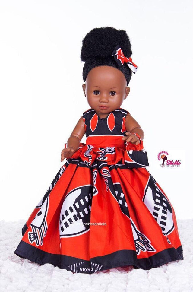 Dress for Nobuhle Doll (Dress Only) - Swati Princess Dress