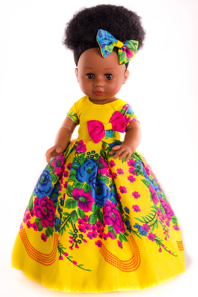 Nobuhle Princess Doll (50cms) - Dressed in Yellow